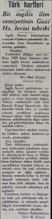 Türk harfleri Bir ingiliz ilim cemiyetinin Gazi Hz. lerini tebriki İngiliz. Heceyi  kolaylaştırma cemiyeti Glaskow şubesinden