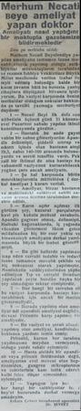 Merhum Necati| neye amellyai an doktor Amol atı ıııııl yaptığını bir ııııımı gazet blldlrıııelııodlr 'a Xen tarafındı ve...