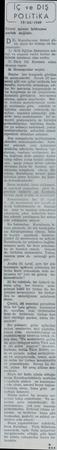 İCöve DİŞ POLiTiKA — 19/X11/1949 ——...