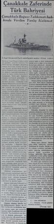 anakkale Zaferinde Türk Bahriyesi Çanakkale Boğazı Tahkimatıhakkında Verilen Yanlış Malâmat | 13 Mart hücumunda İngiliz...