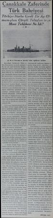 anakkale Zaferinde Türk Bahriy;si Türkiye Harbe Gireli lîir_A_y Olmamişken Çürçili Telâşlanıran Mısır Tehlikesi Ne İdi? 16