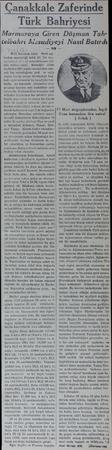 Canakkale Zaferinde Türk Bahriyesi Marmaraya Giren Düşman Tahtelbahri Mesudiyeyi Nasıl Batırdı B-11 botunun daha - derin...