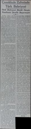Çanakkale Zaferinde Türk Bahriyesi Türk Bahriyesi Büyük Harpte Vazifesini Şerefle Başarmıştır —14 Bu filoya — refakat - eden