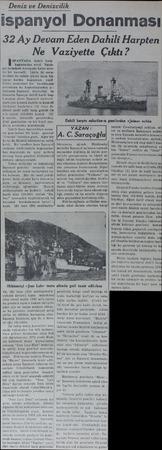Deniz ve Denizcilik spanyol Donanması 32 Ay Devam Eden Dahili Harpten ette Çıktı? Ne Vaziy SPANYADA dahili harp başlamadan