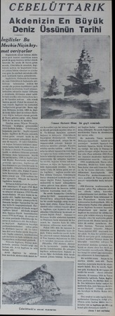 """CEBELÜTTARIK Akdenizin En Büyü """"Deniz İngilizler Bu Mevkie Niçinkıymet veriyorlar Bugünlerde siyasi buhran Akdenizin şark..."""