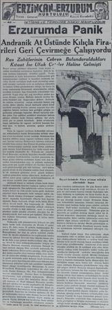 URUM.C Kâzım Karabekir İKTİBAS VE TERCÜME HAKKİ MAHFUZDU., -Erzurumda Panik Andranik At Üstünde Kılıçla Fira rileri Geri...