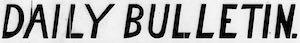 The Daily Bulletin Logosu