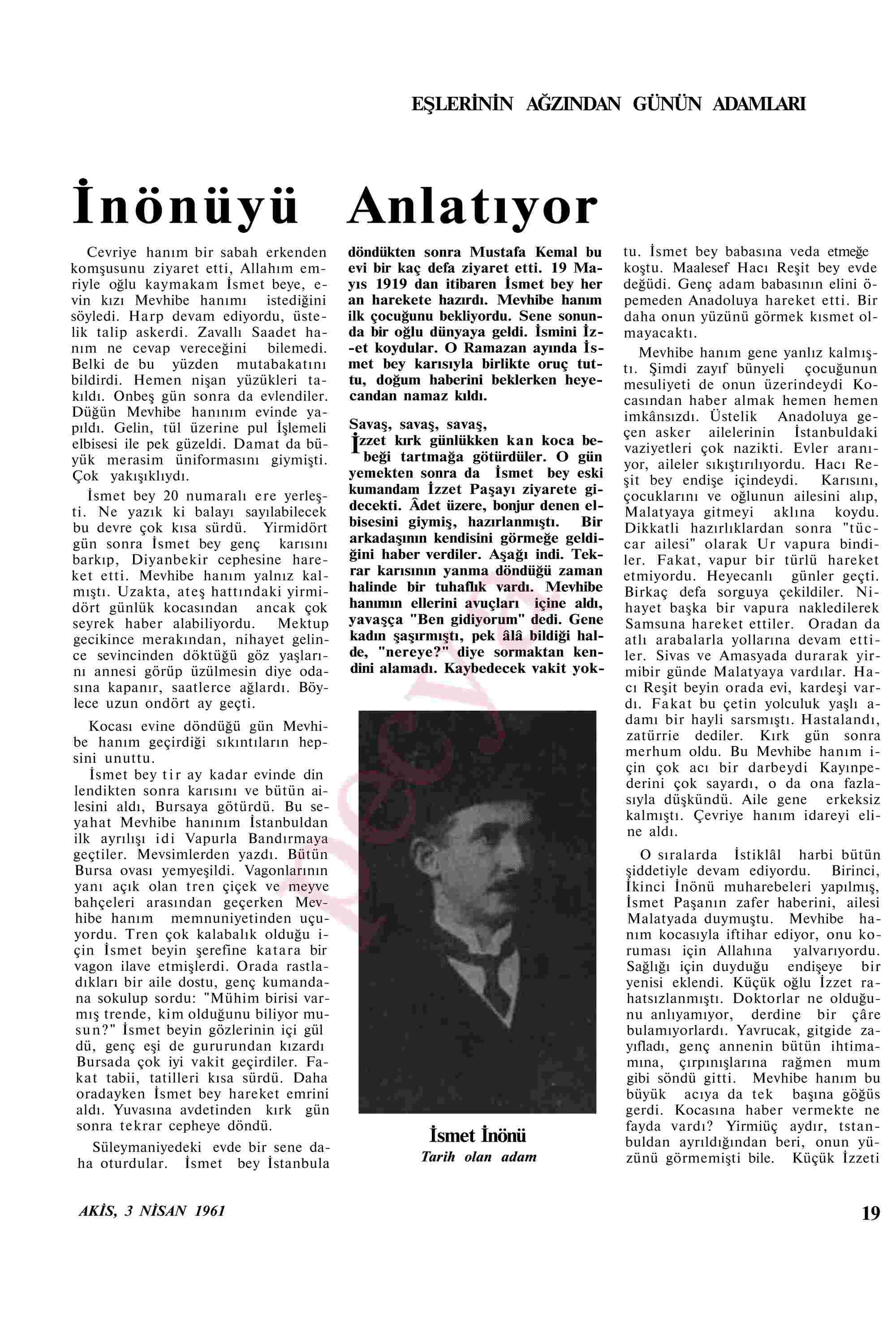 3 Nisan 1961 Tarihli Akis Dergisi Sayfa 19