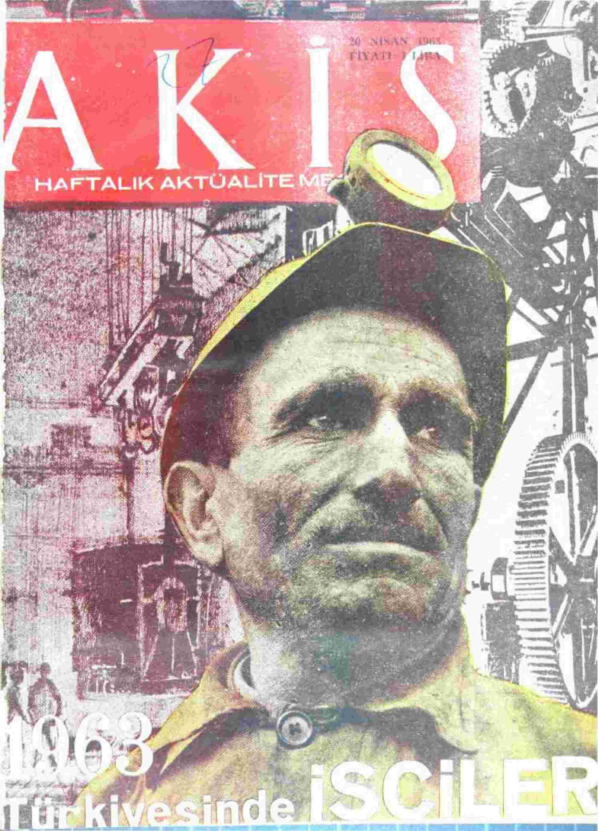 20 Nisan 1963 Tarihli Akis Dergisi Sayfa 1
