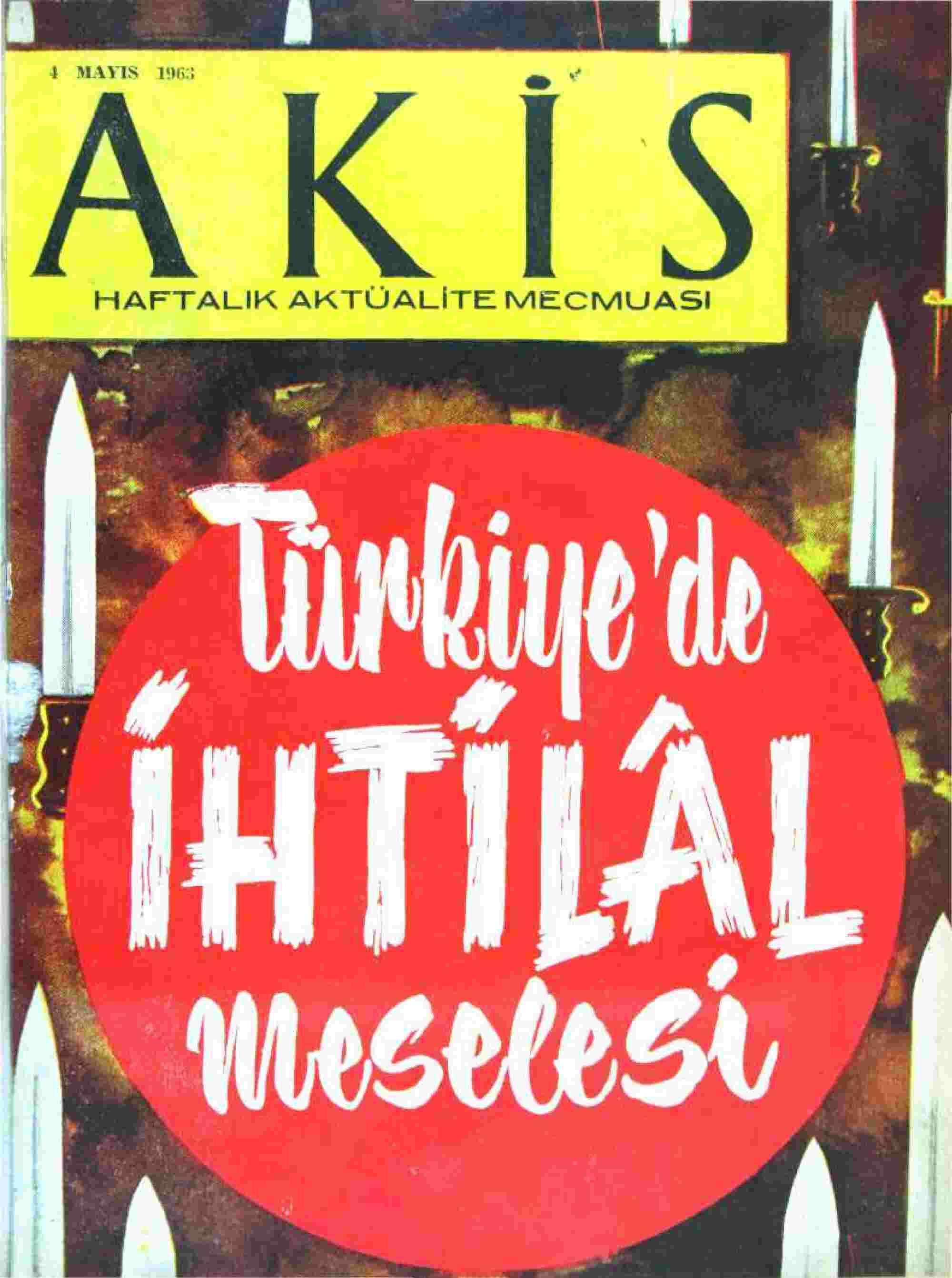 4 Mayıs 1963 Tarihli Akis Dergisi Sayfa 1