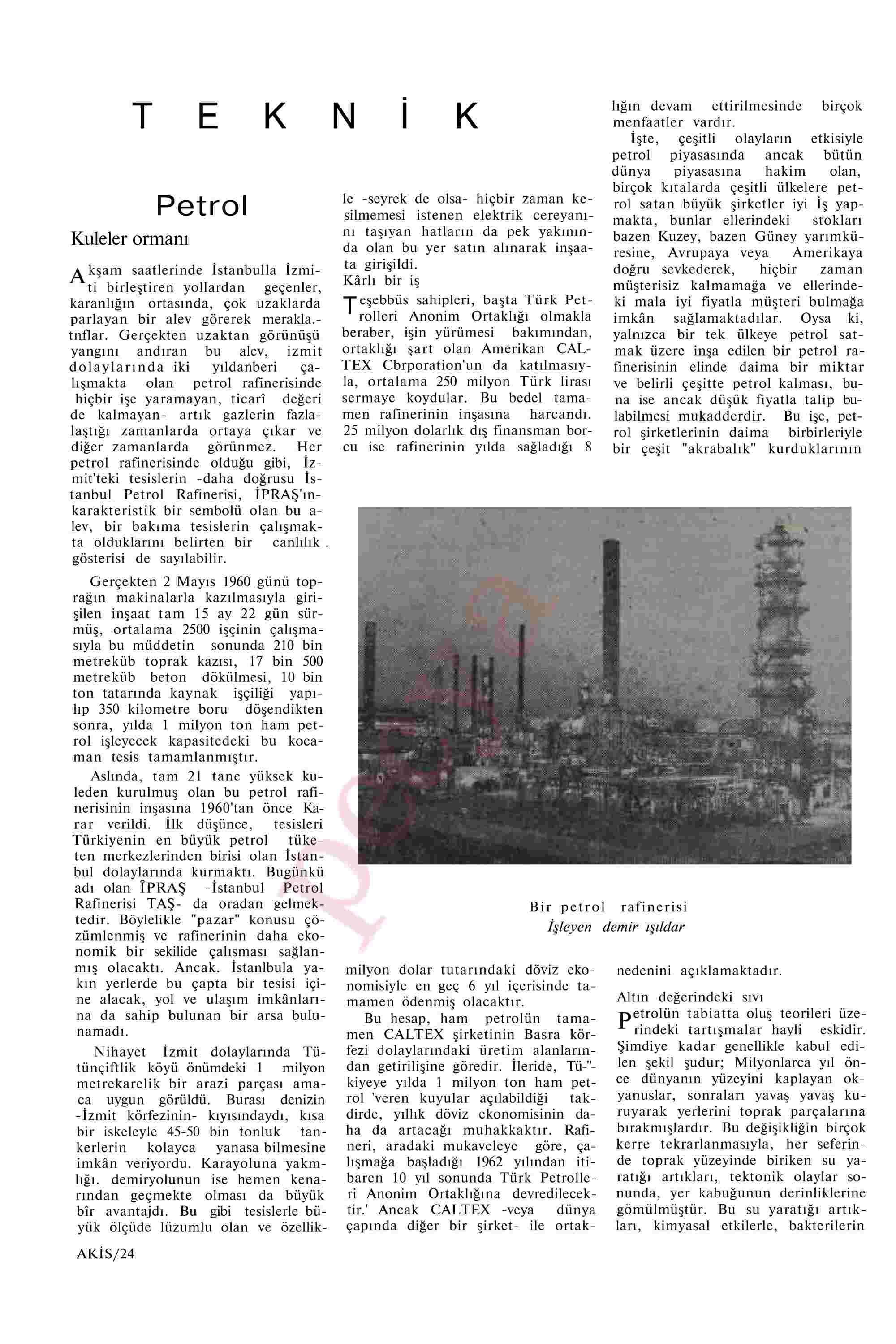 20 Temmuz 1963 Tarihli Akis Dergisi Sayfa 24