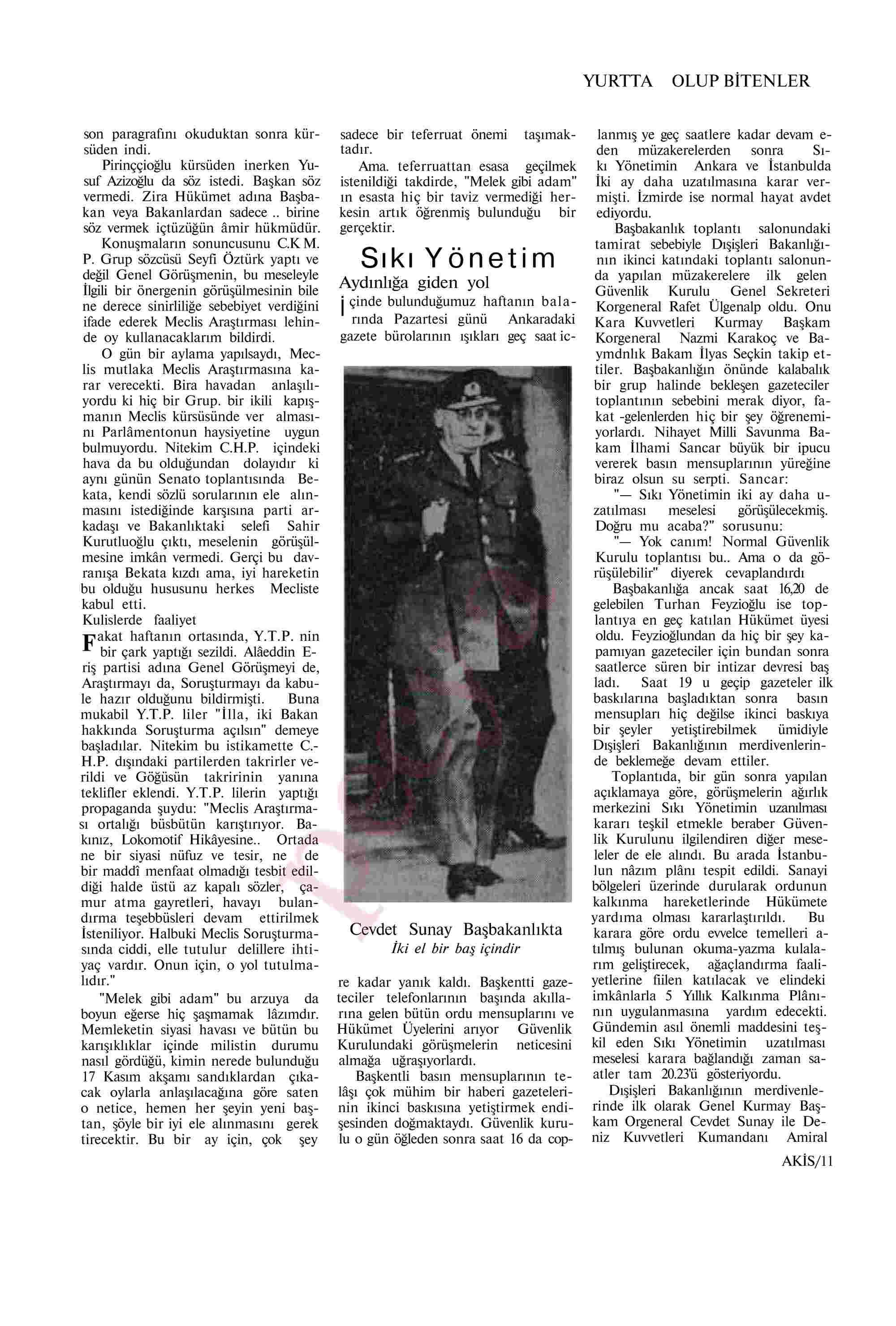 19 Ekim 1963 Tarihli Akis Dergisi Sayfa 11
