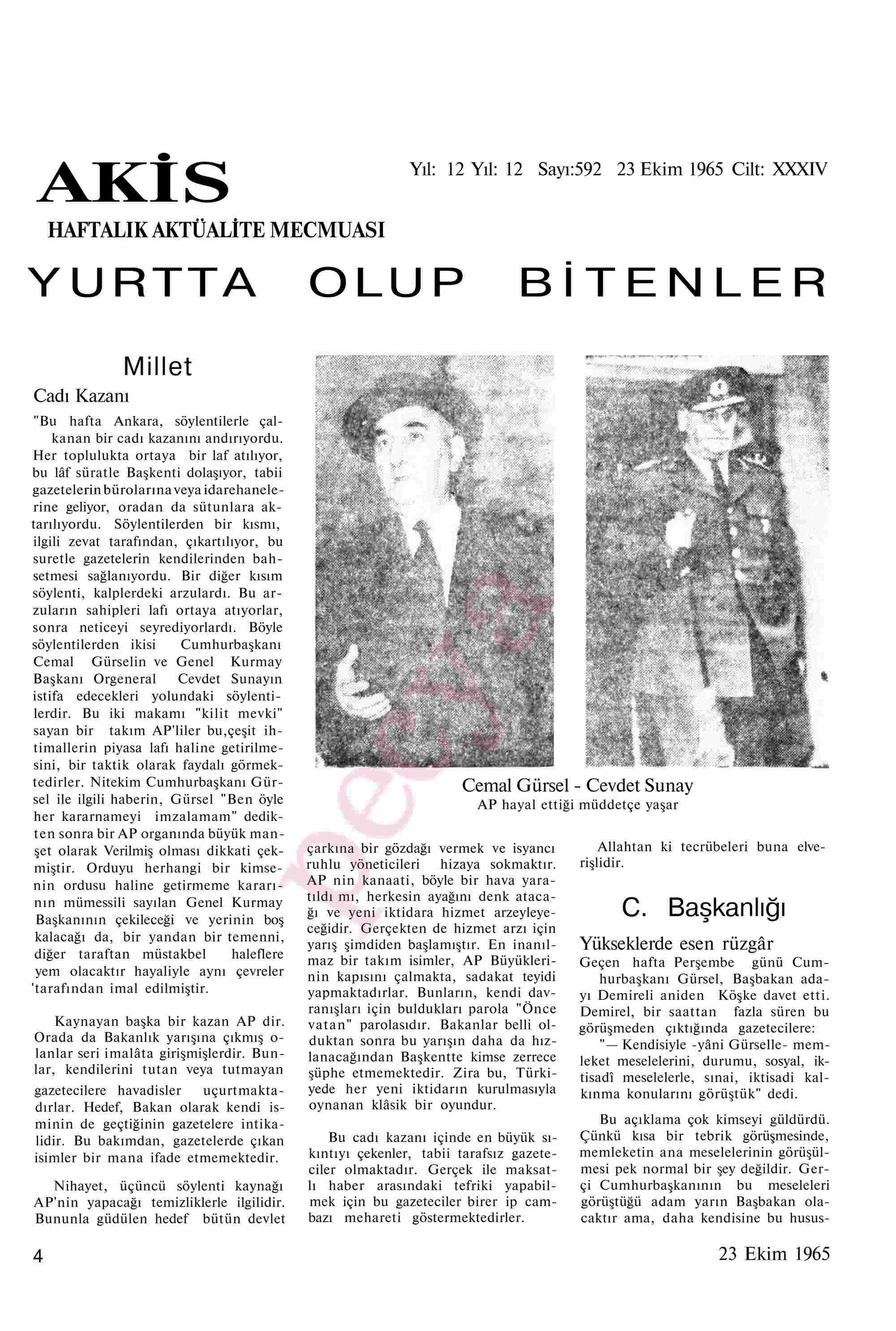 23 Ekim 1965 Tarihli Akis Dergisi Sayfa 4