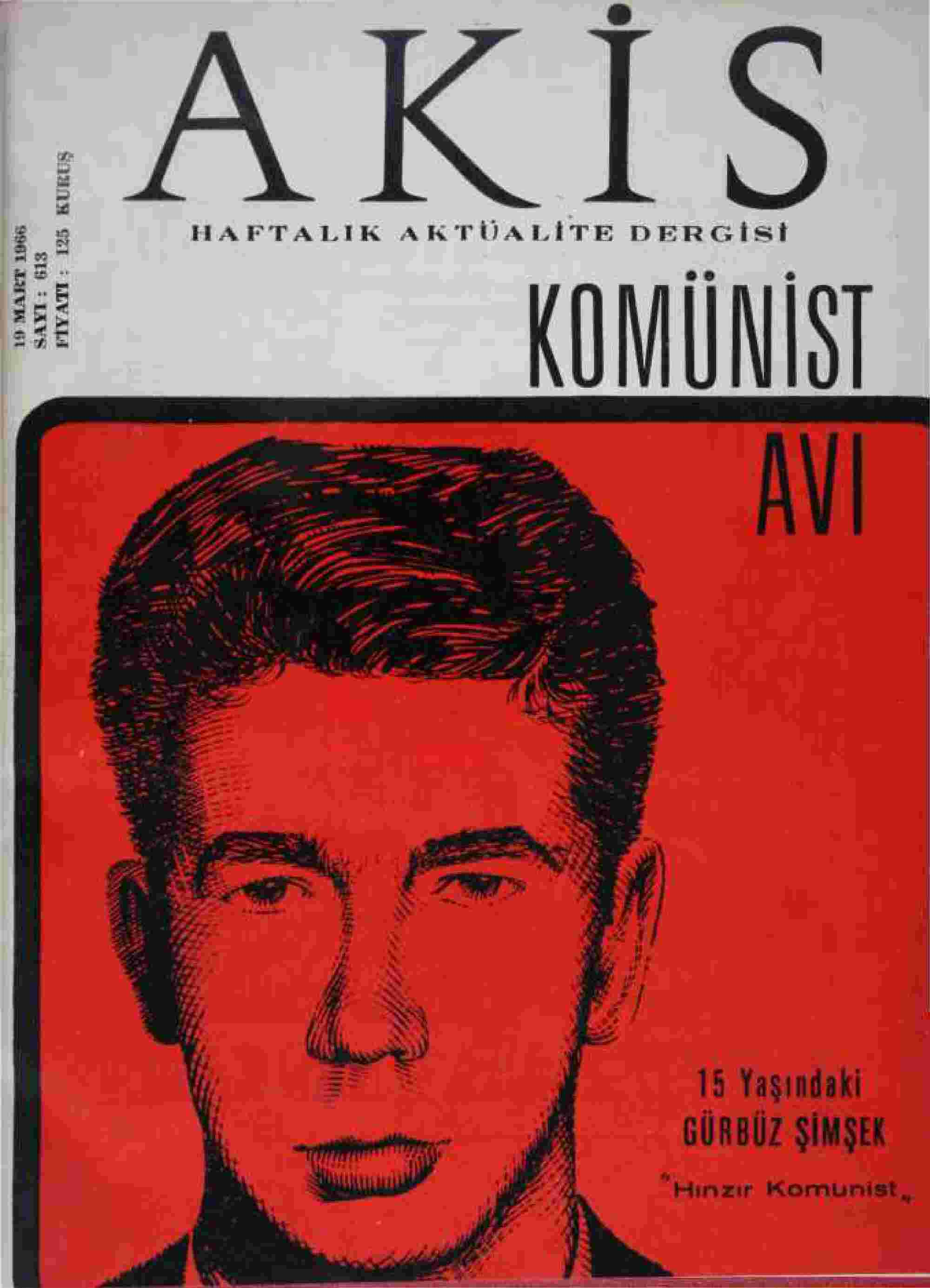 19 Mart 1966 tarihli Akis Dergisi Sayfa 1