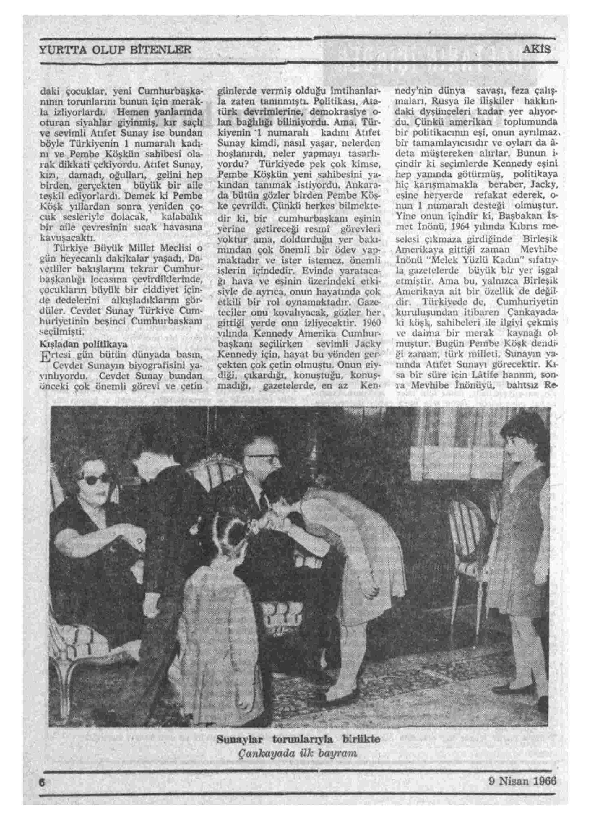 9 Nisan 1966 Tarihli Akis Dergisi Sayfa 6