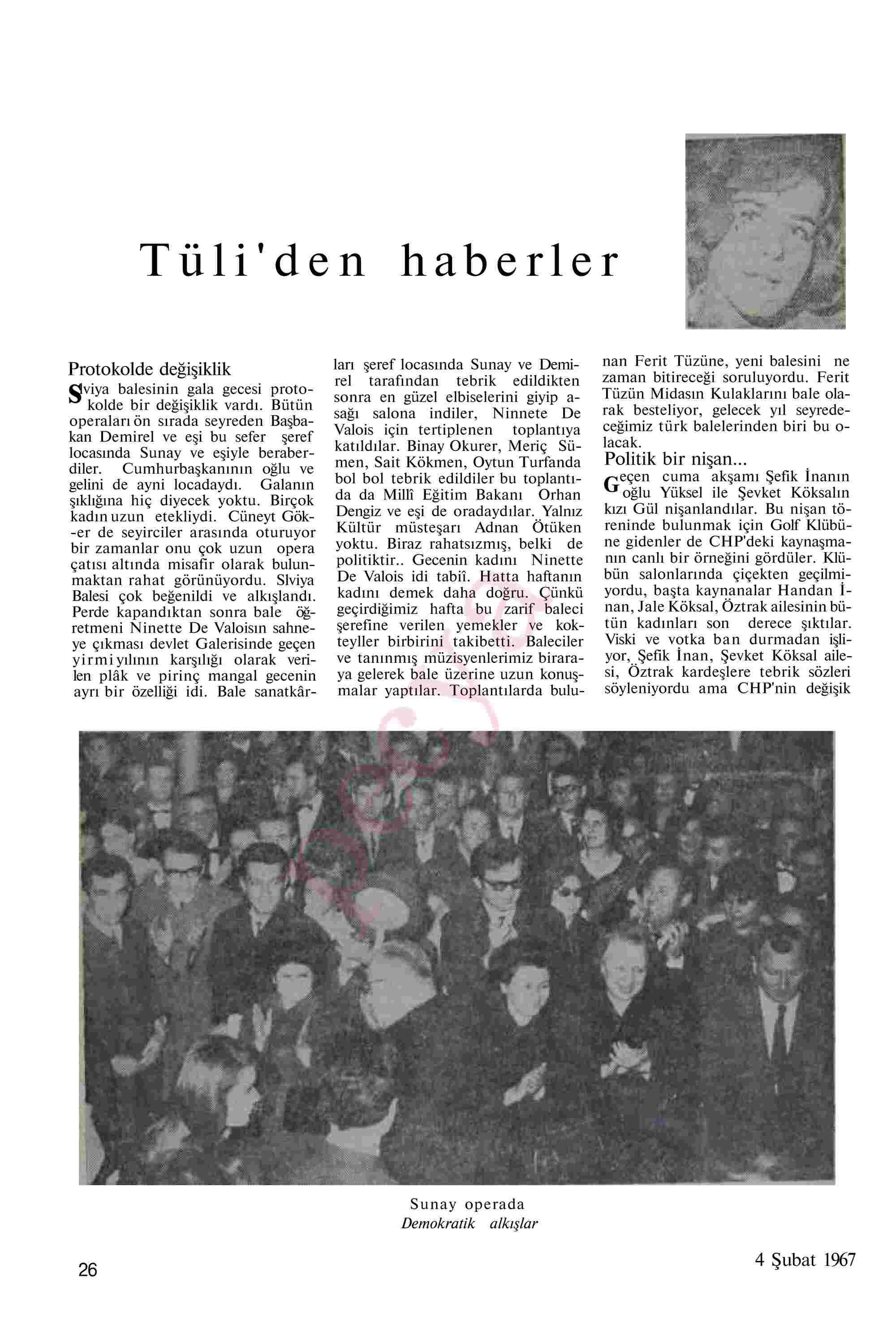 4 Şubat 1967 Tarihli Akis Dergisi Sayfa 26