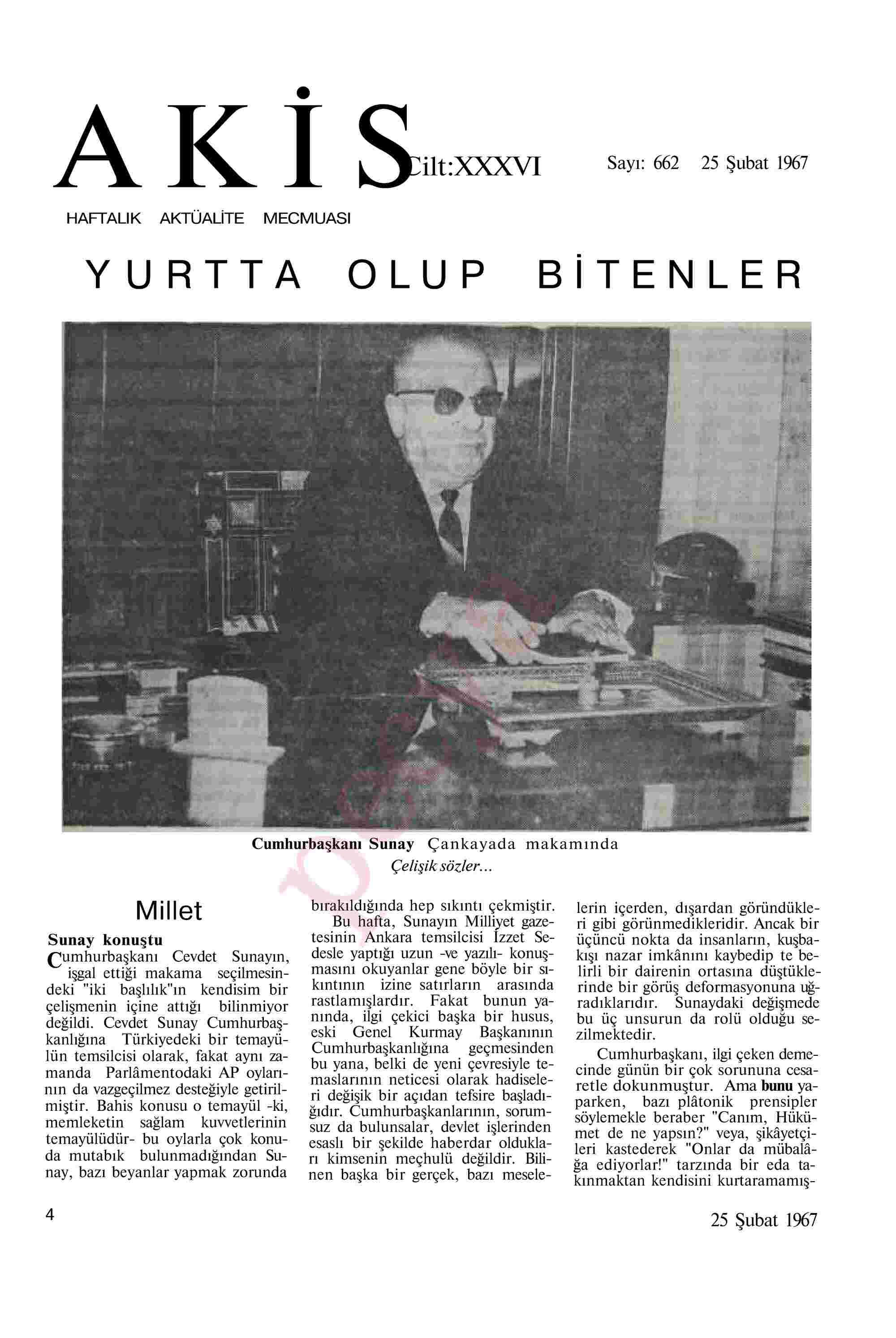 25 Şubat 1967 Tarihli Akis Dergisi Sayfa 4