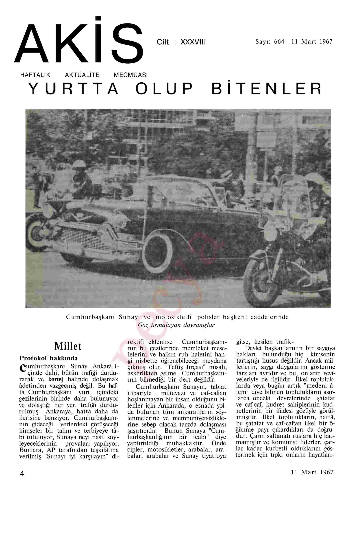 11 Mart 1967 Tarihli Akis Dergisi Sayfa 4