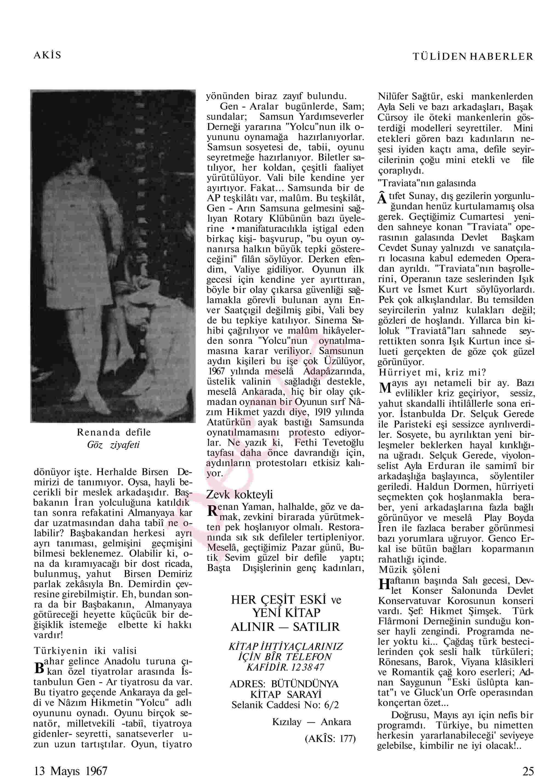 13 Mayıs 1967 Tarihli Akis Dergisi Sayfa 25