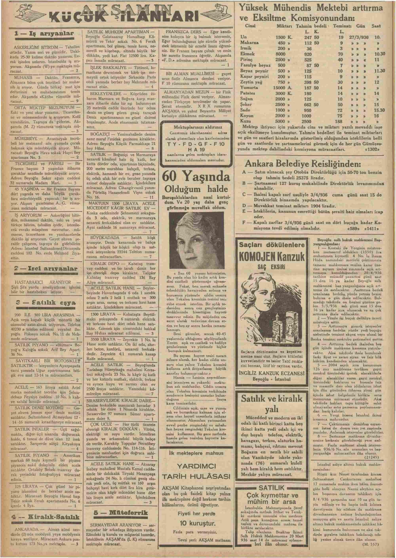 18 Mart 1936 Tarihli Akşam Dergisi Sayfa 10