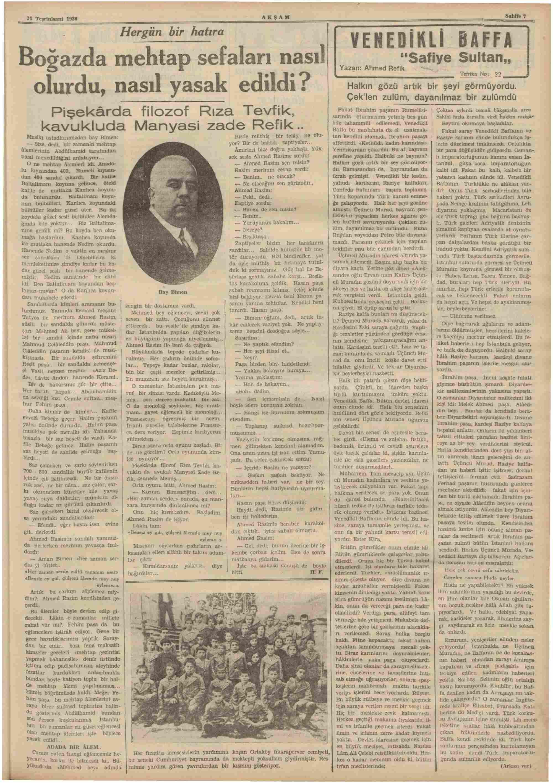 14 Kasım 1936 Tarihli Akşam Dergisi Sayfa 7