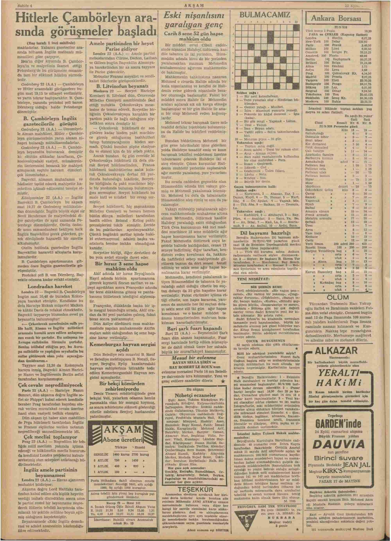 23 Eylül 1938 Tarihli Akşam Dergisi Sayfa 4