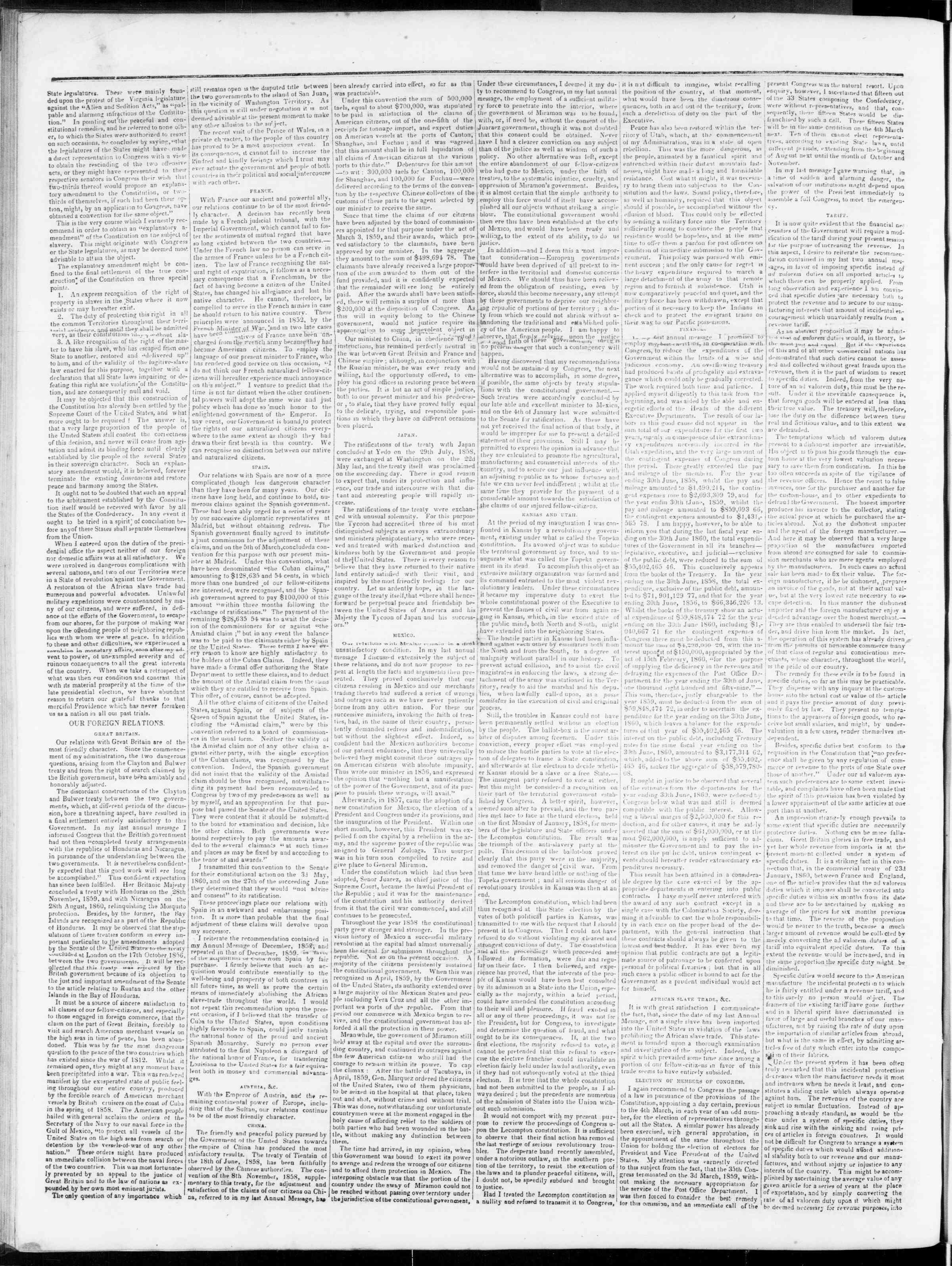 Newspaper of Bedford Gazette dated December 14, 1860 Page 2