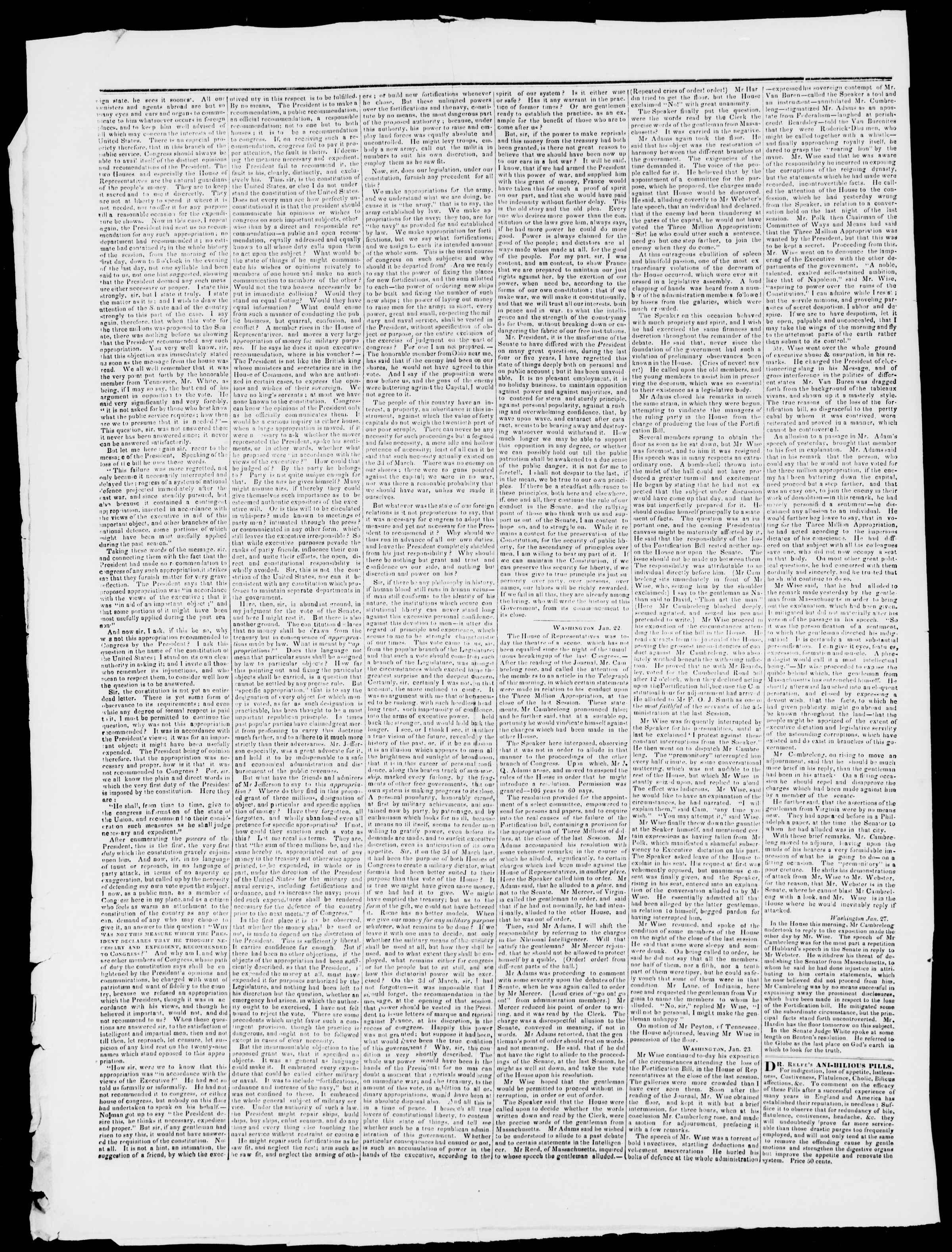 Newspaper of Burlington Free Press dated February 5, 1836 Page 2