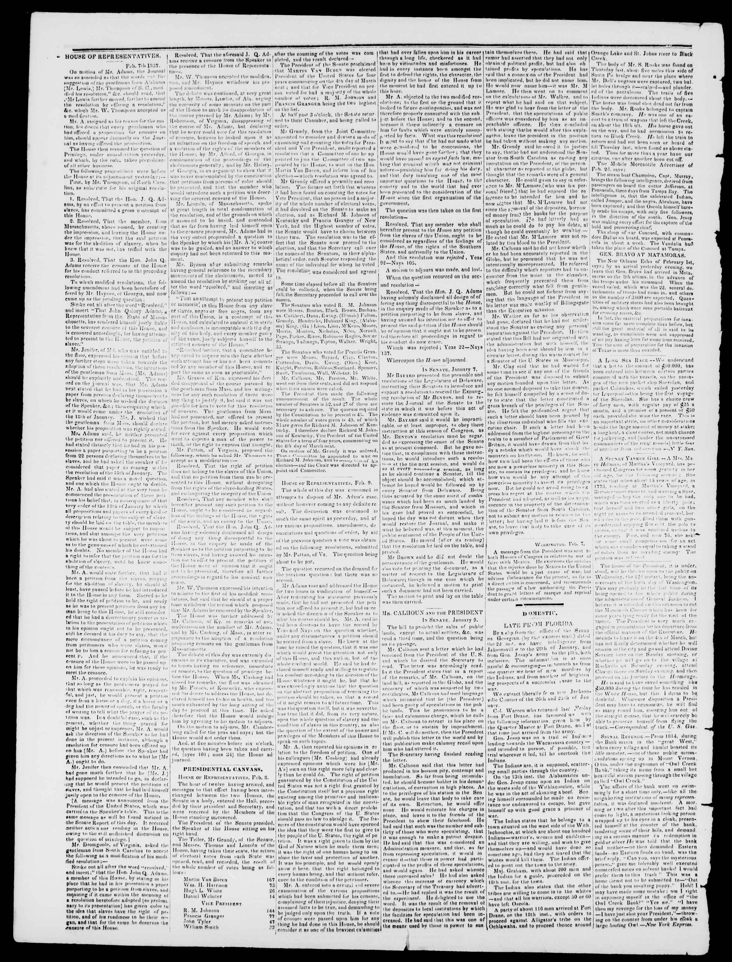 Newspaper of Burlington Free Press dated February 17, 1837 Page 2