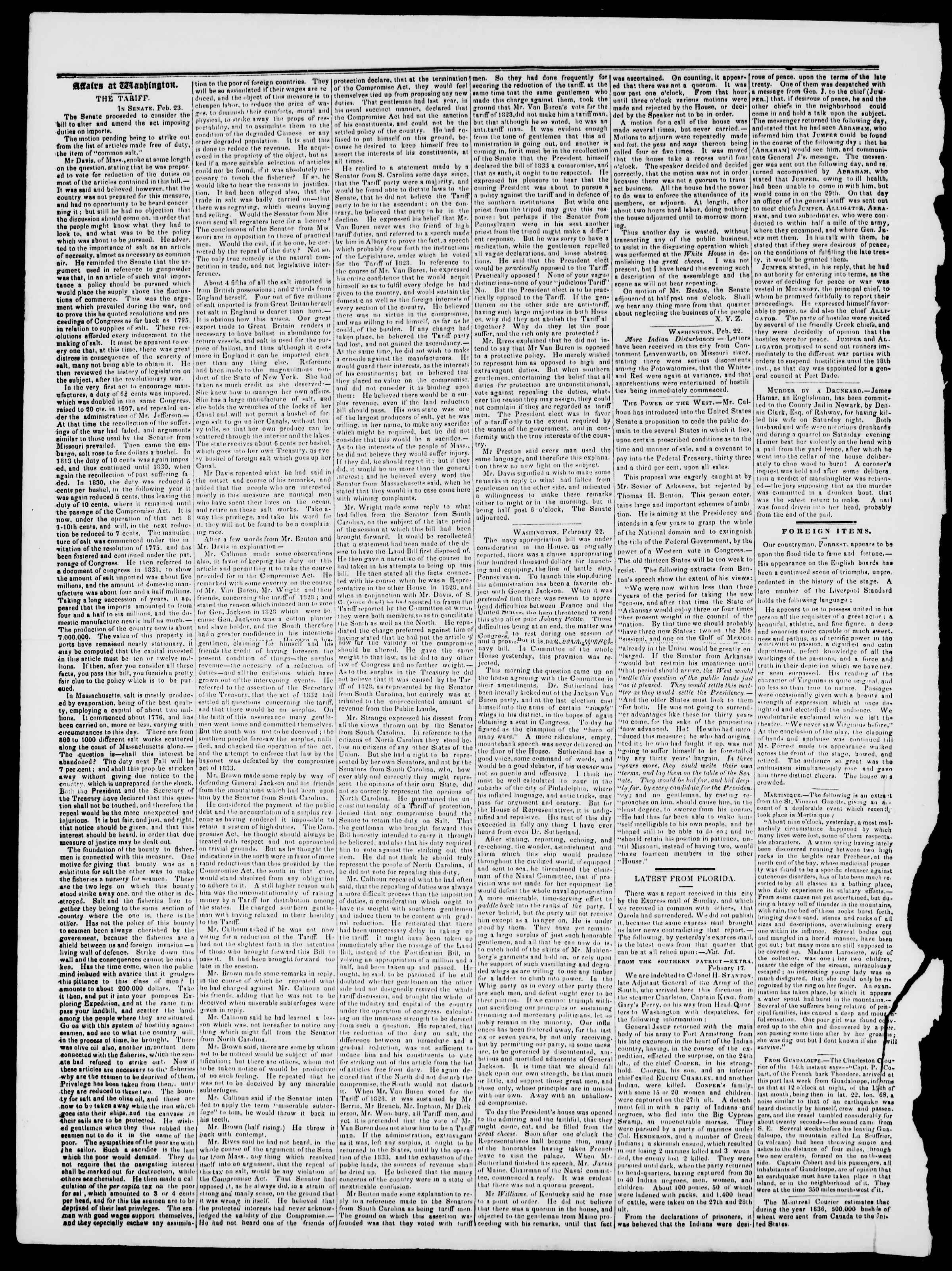 Newspaper of Burlington Free Press dated March 3, 1837 Page 2