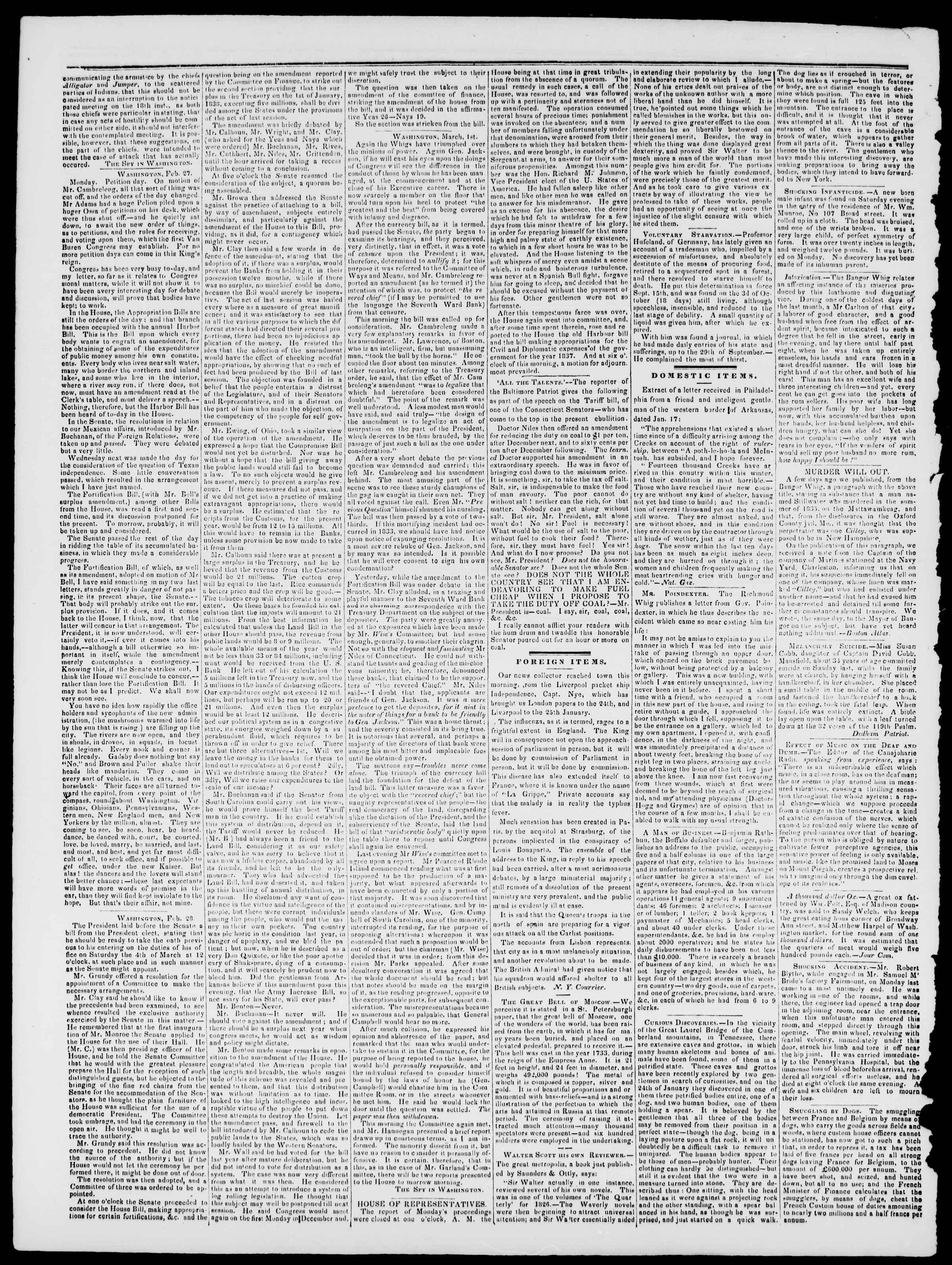 Newspaper of Burlington Free Press dated 10 Mart 1837 Page 2
