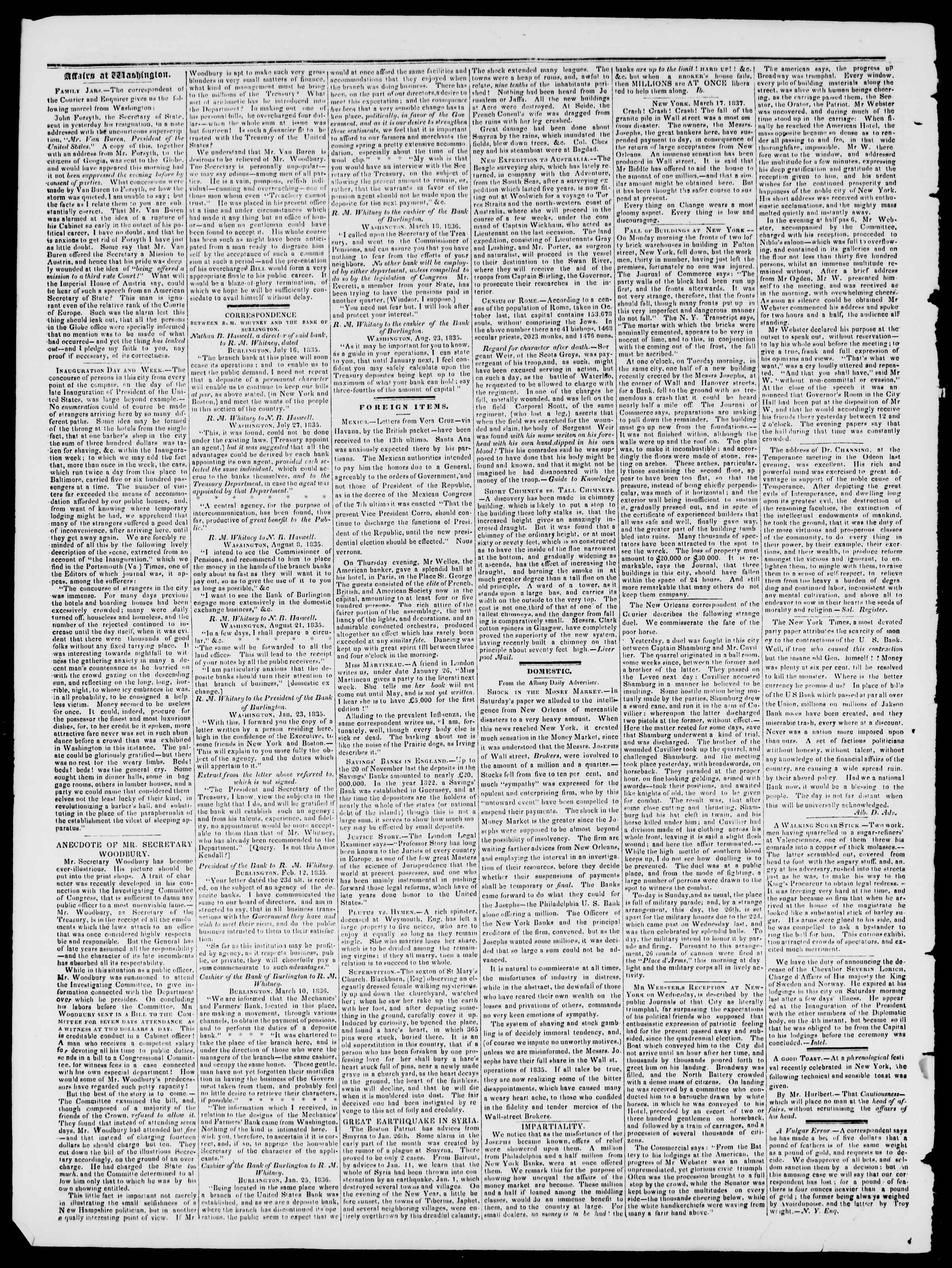 Newspaper of Burlington Free Press dated March 24, 1837 Page 2
