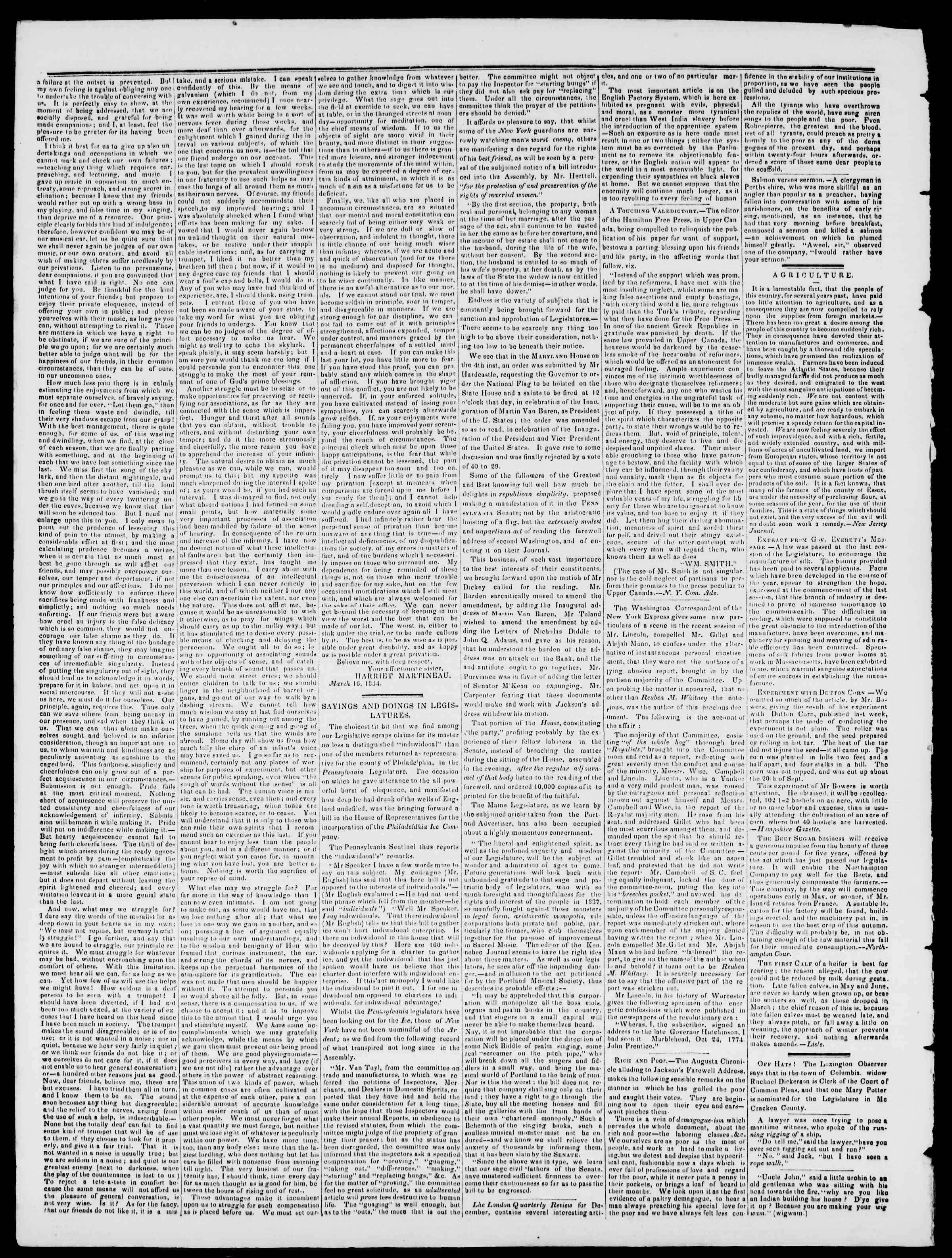 Newspaper of Burlington Free Press dated April 7, 1837 Page 2