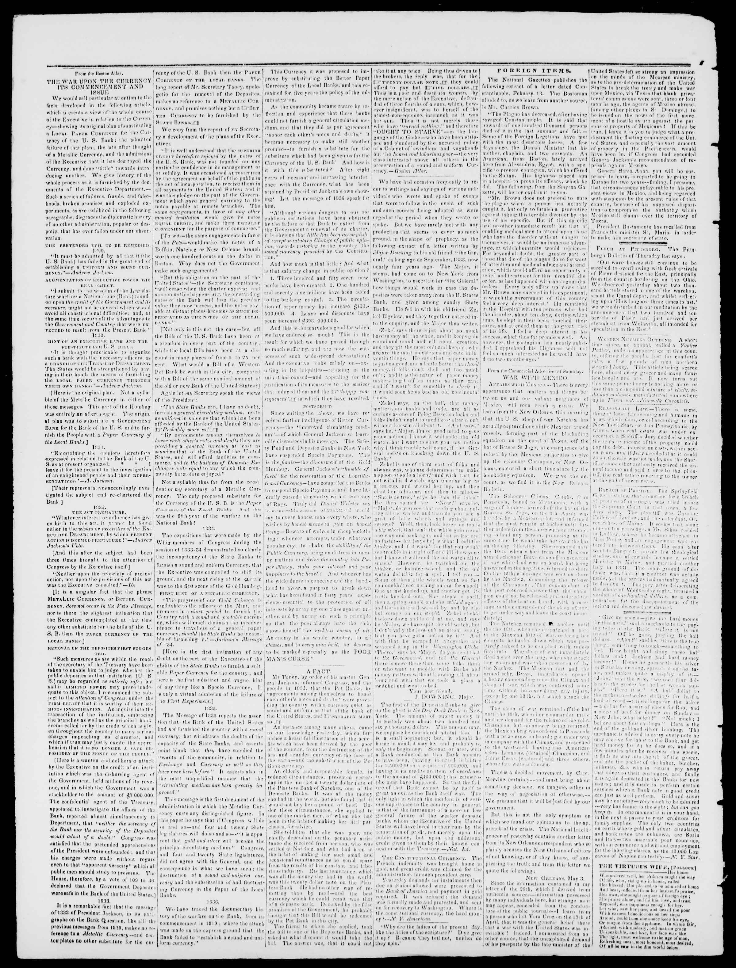 Newspaper of Burlington Free Press dated May 19, 1837 Page 2