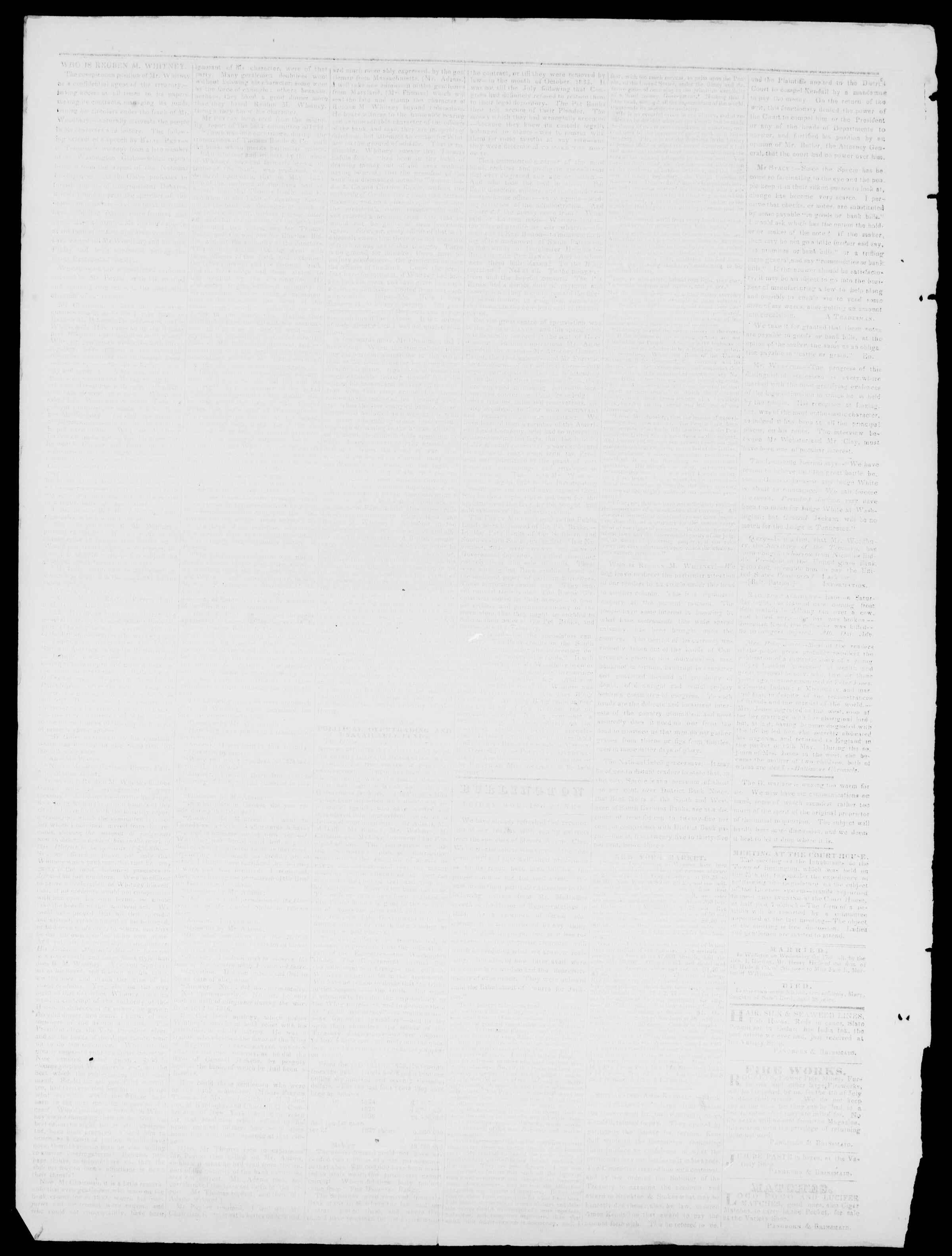 Newspaper of Burlington Free Press dated June 9, 1837 Page 2