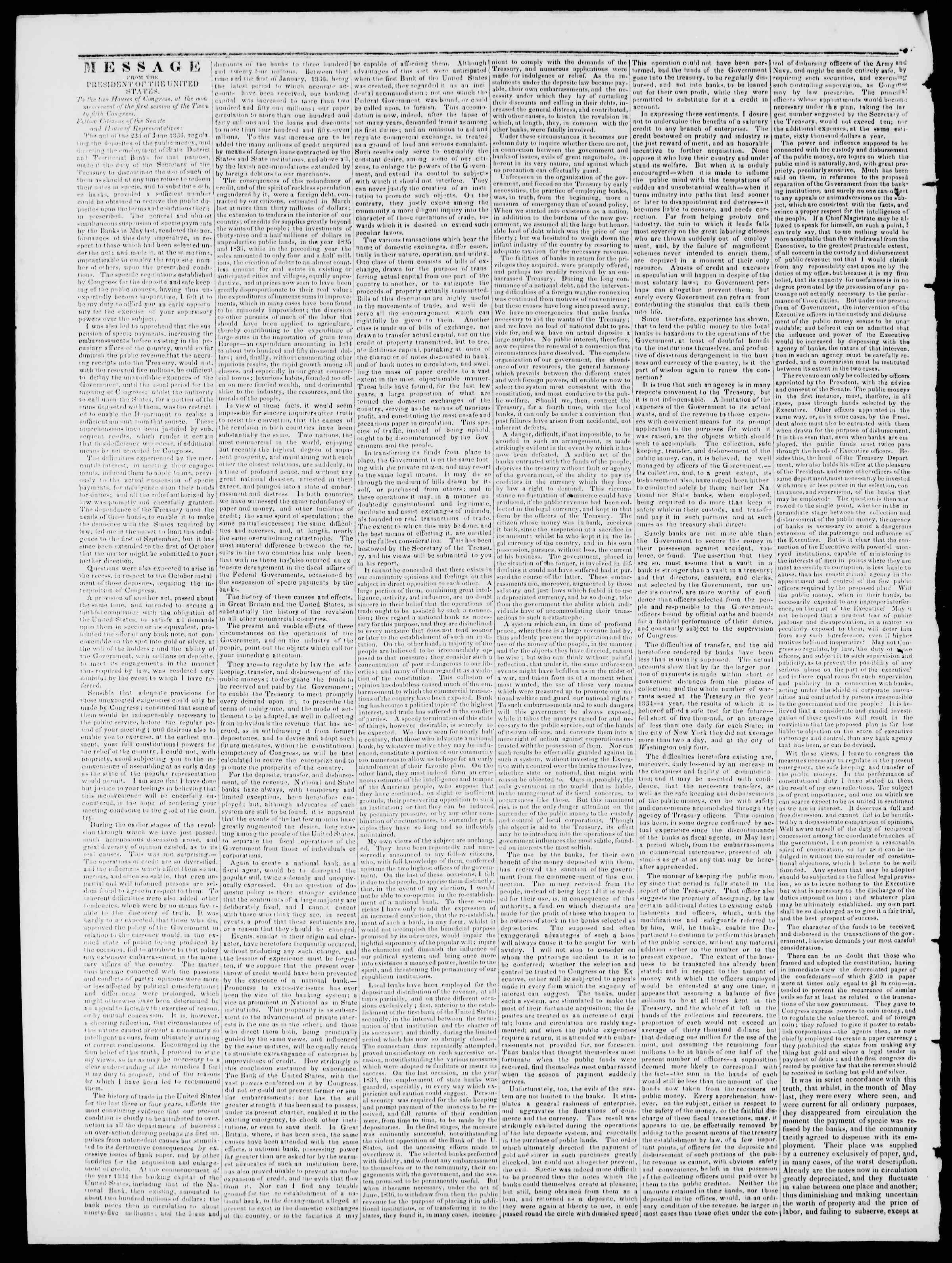 Newspaper of Burlington Free Press dated September 8, 1837 Page 2