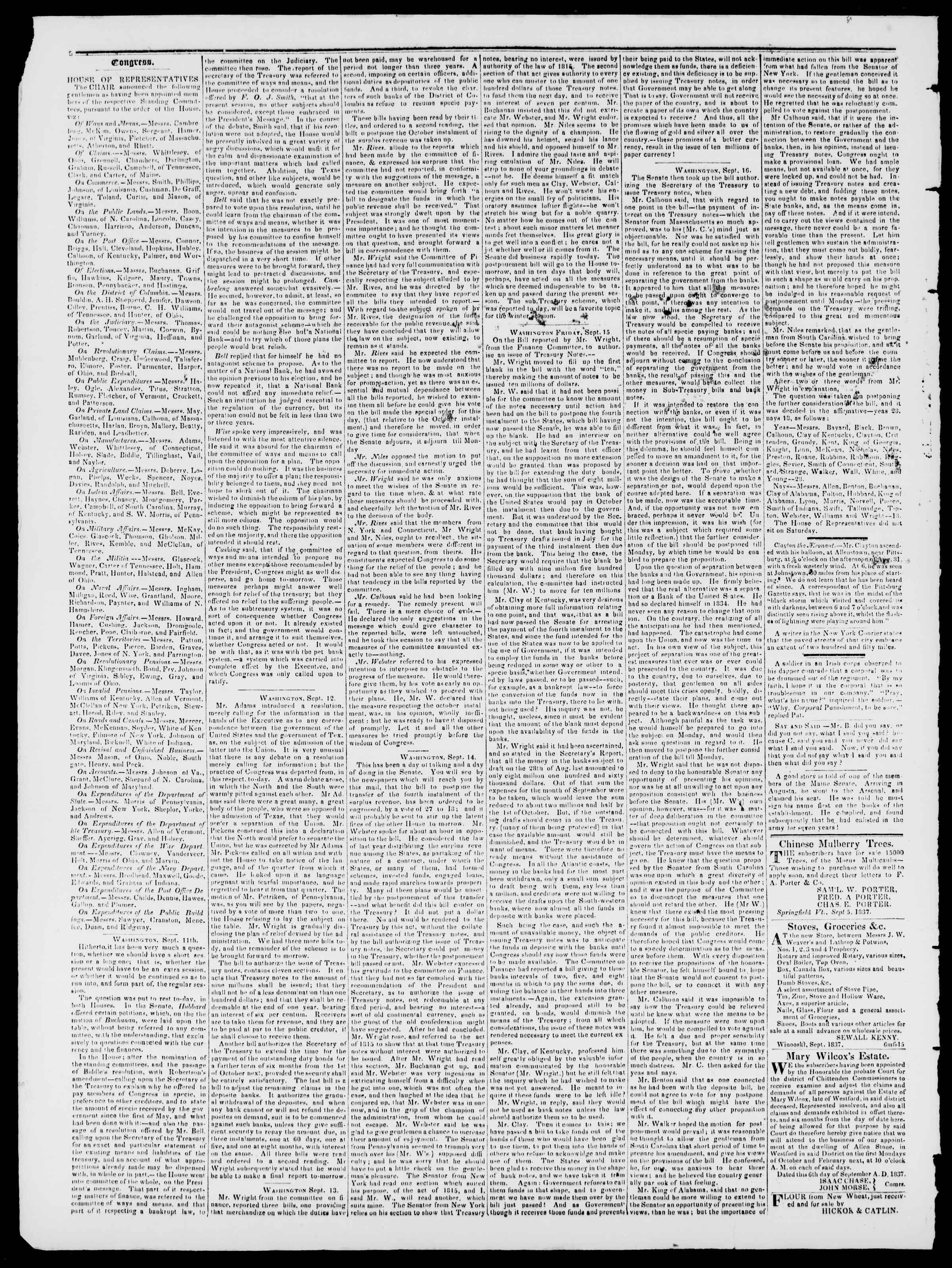 Newspaper of Burlington Free Press dated September 22, 1837 Page 2
