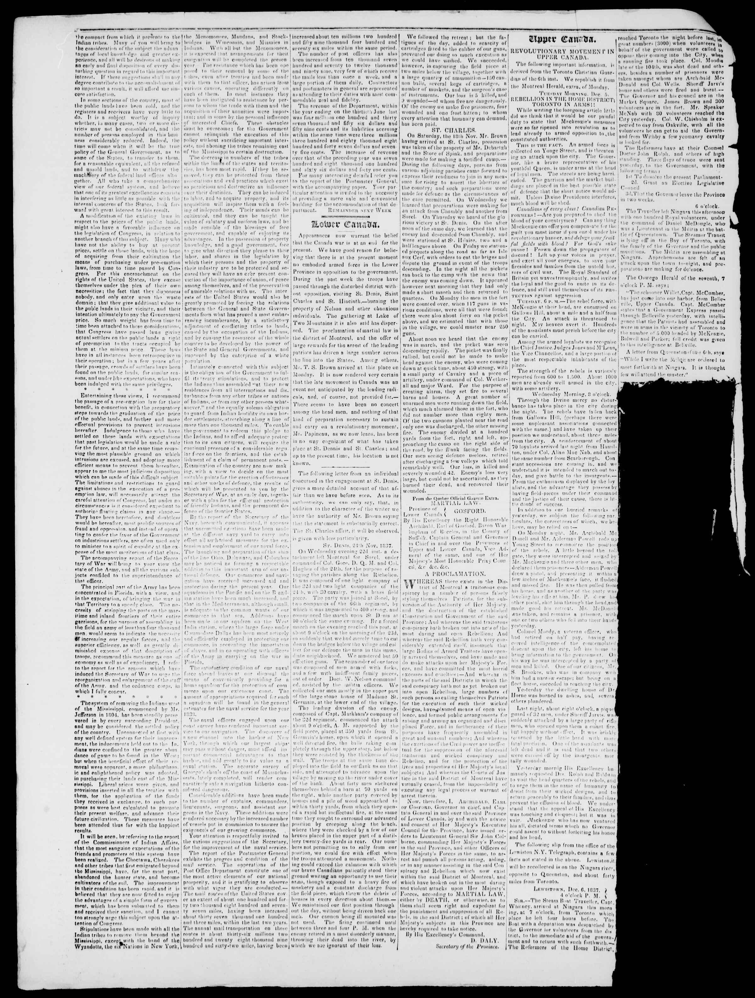 Newspaper of Burlington Free Press dated December 15, 1837 Page 2