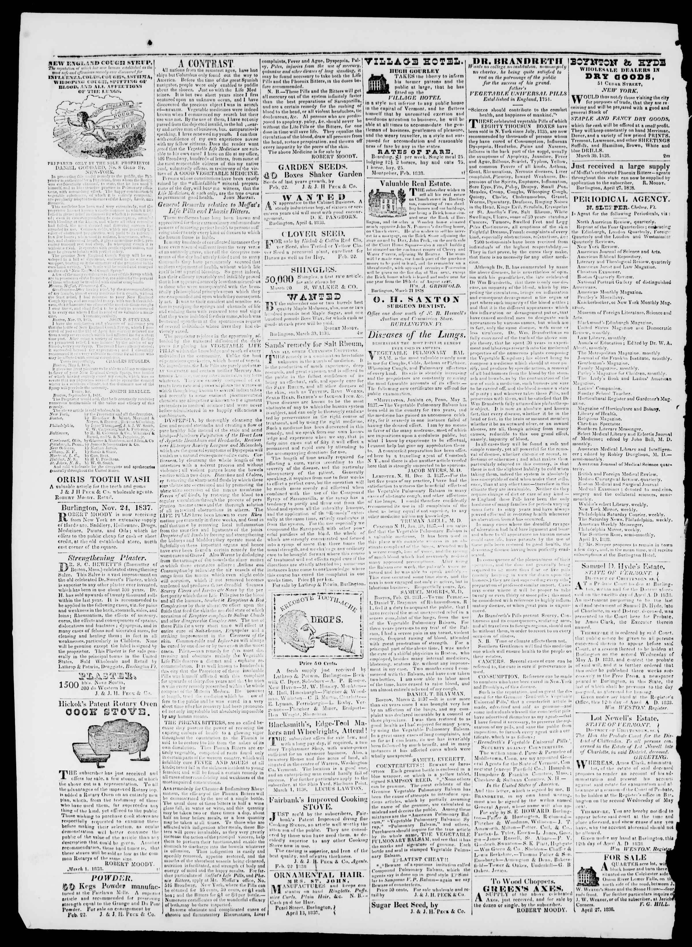 Newspaper of Burlington Free Press dated May 11, 1838 Page 4
