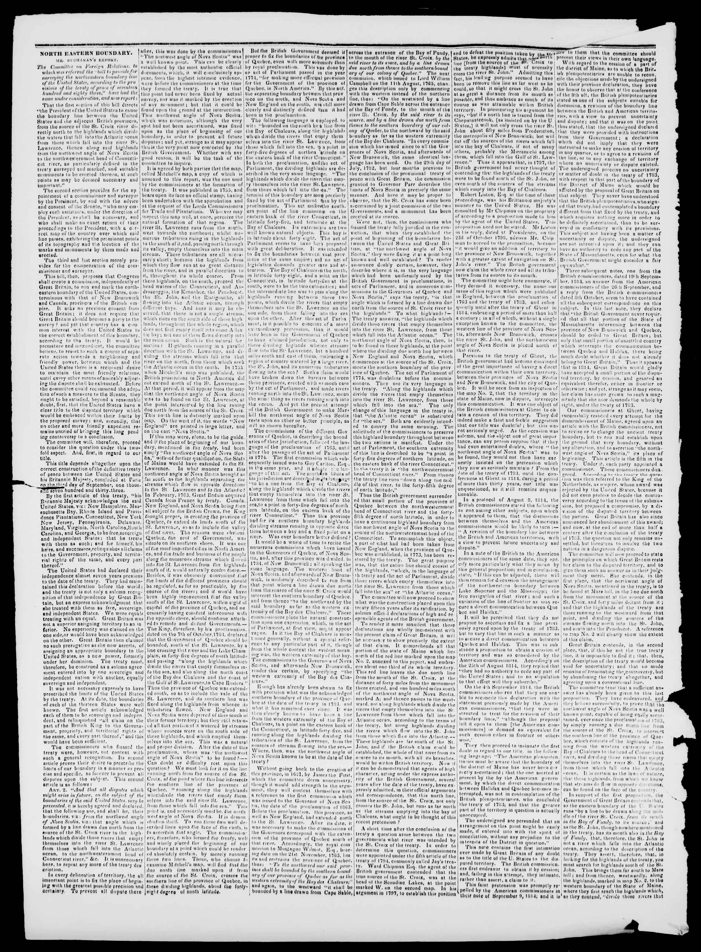 Newspaper of Burlington Free Press dated March 22, 1839 Page 2