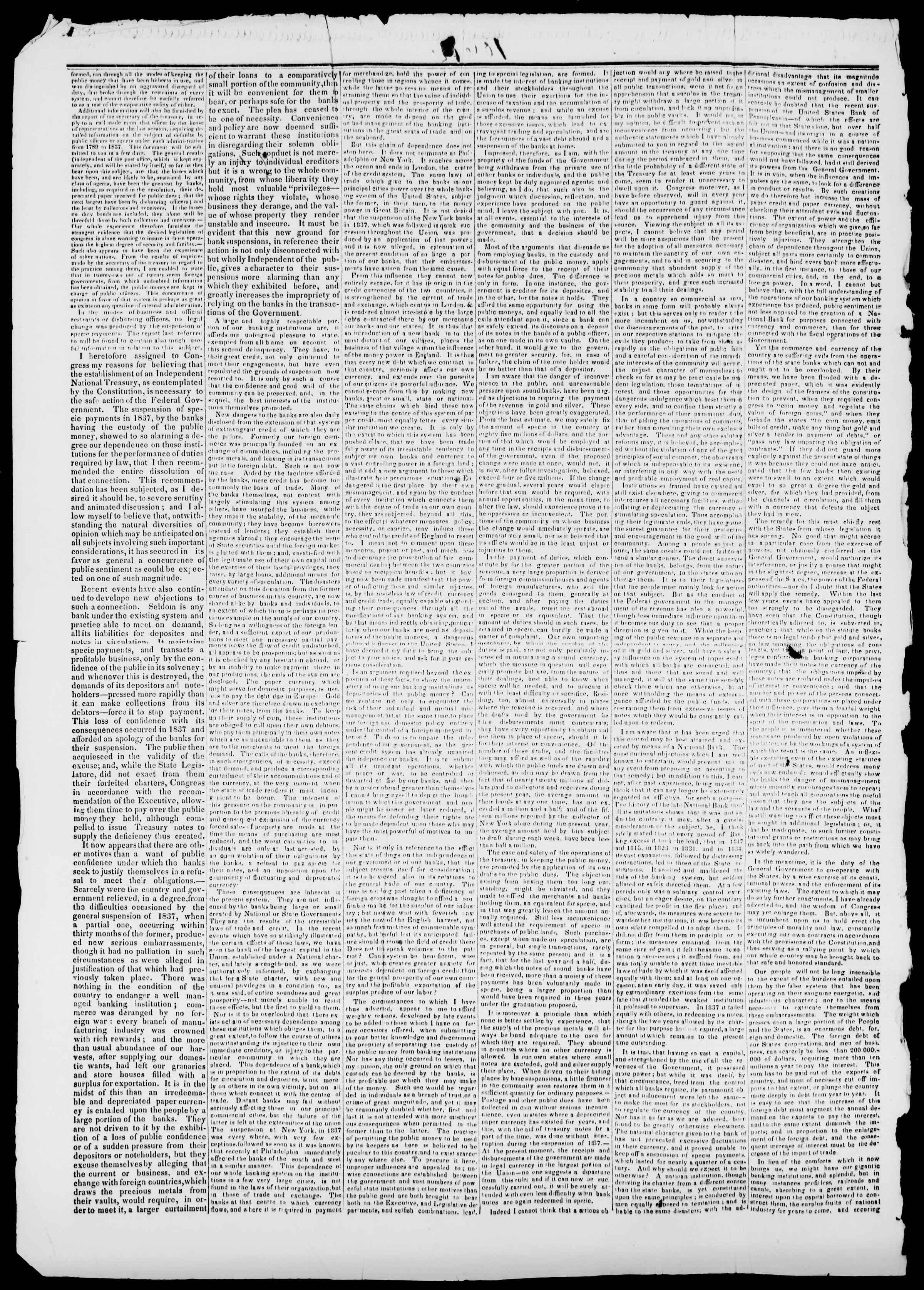 Newspaper of Burlington Free Press dated January 3, 1840 Page 2