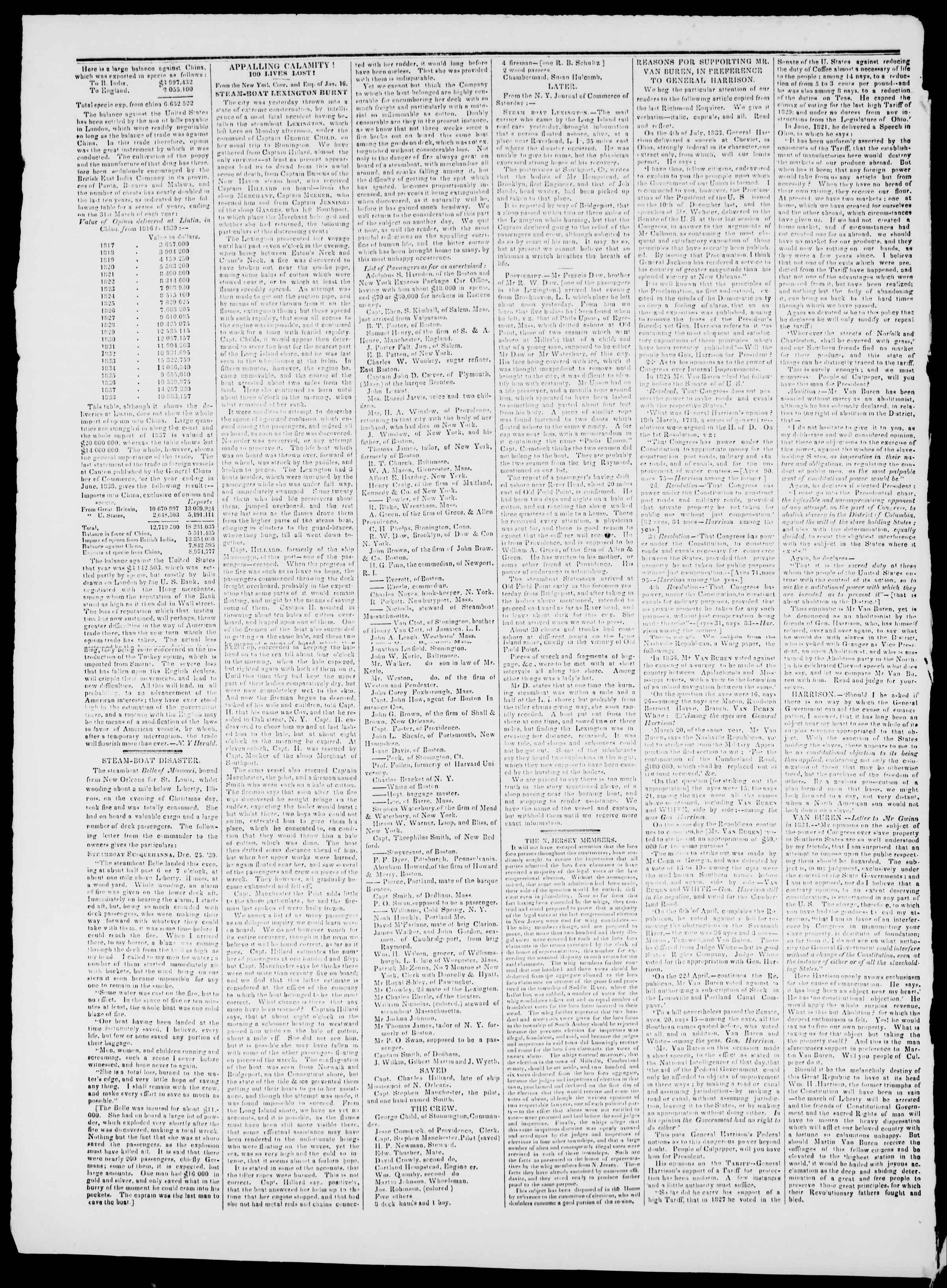 Newspaper of Burlington Free Press dated January 24, 1840 Page 2