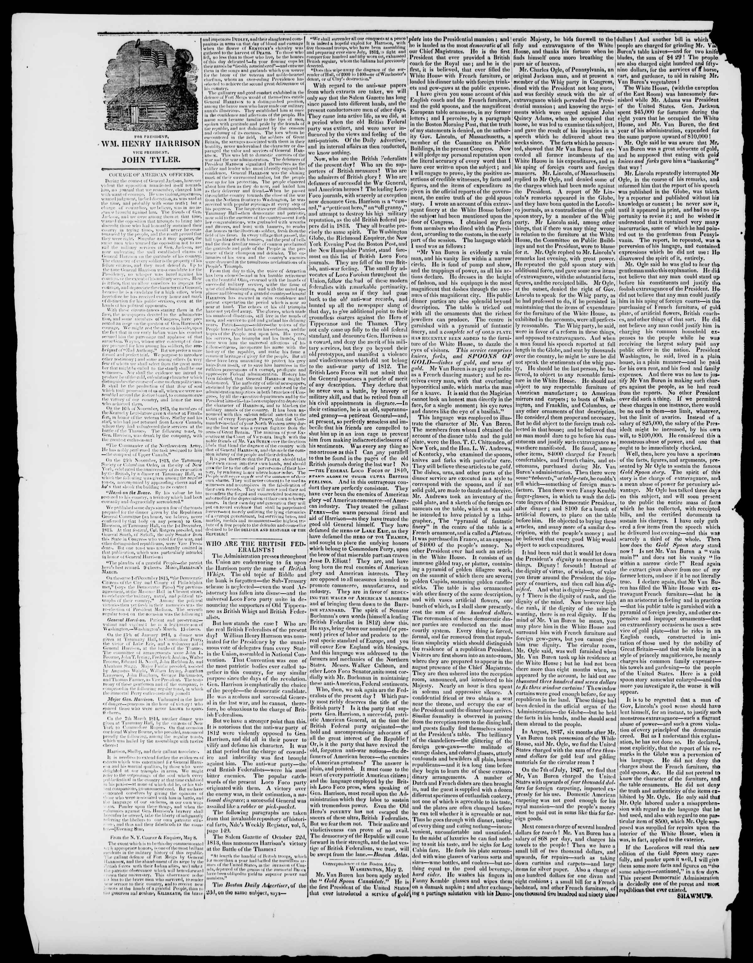 Newspaper of Burlington Free Press dated May 22, 1840 Page 2
