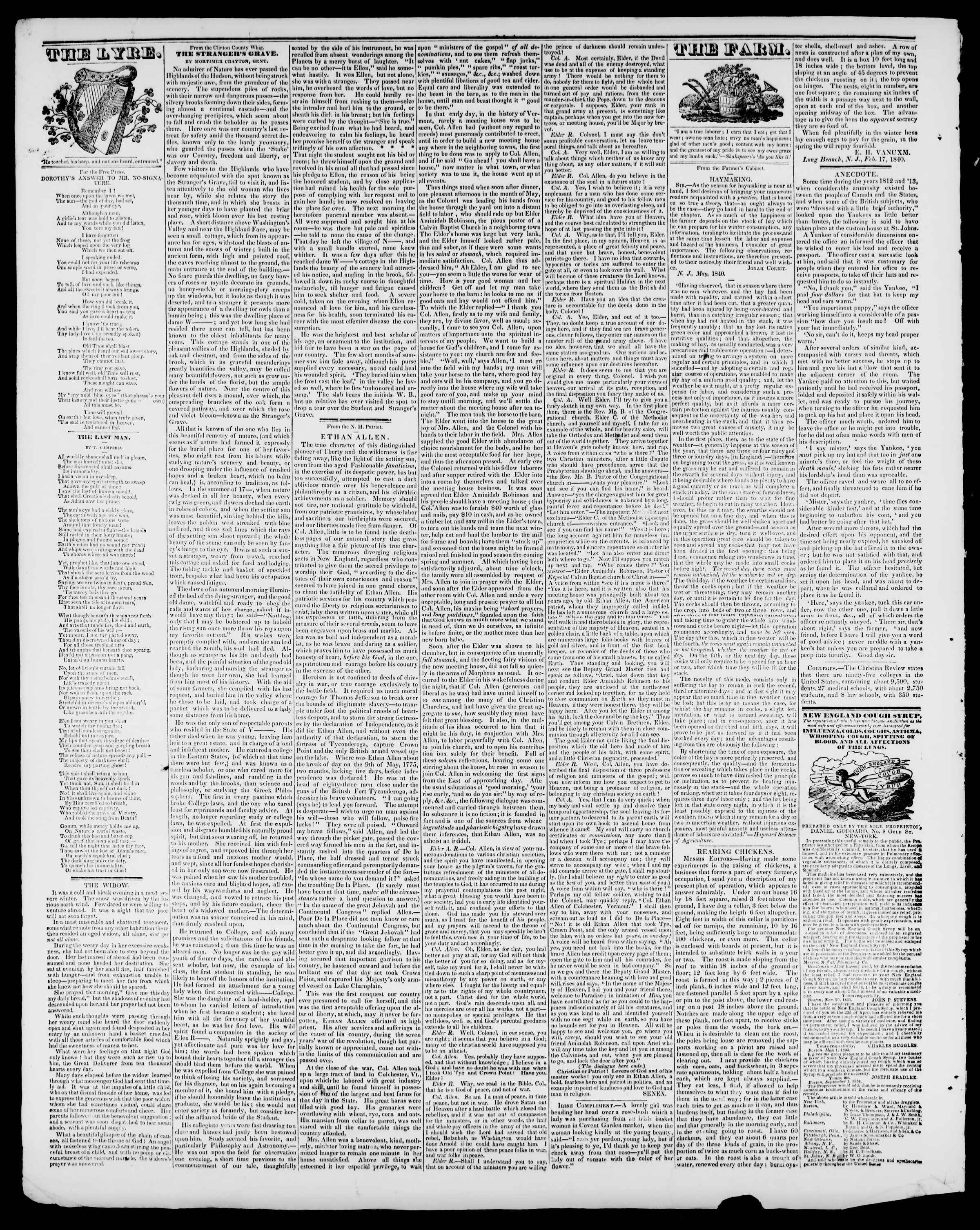 Newspaper of Burlington Free Press dated July 10, 1840 Page 4
