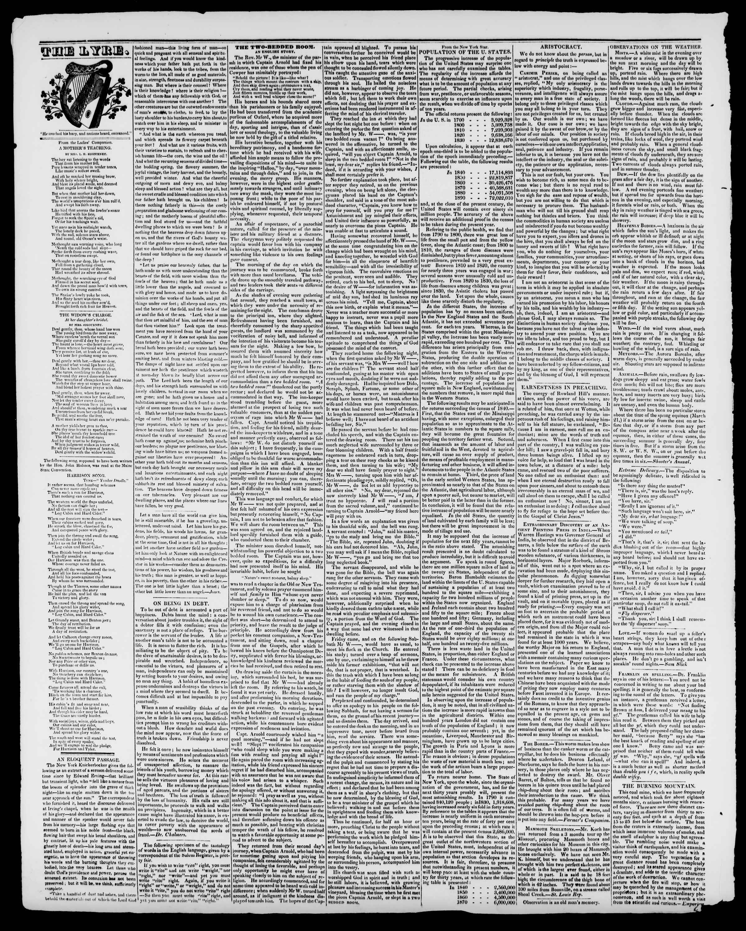Newspaper of Burlington Free Press dated August 14, 1840 Page 4