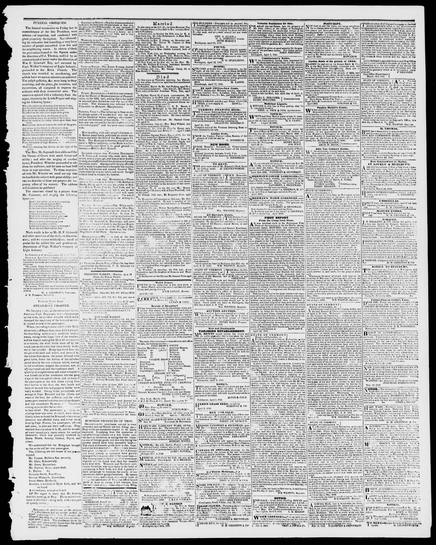 Newspaper of Burlington Free Press dated April 30, 1841 Page 3