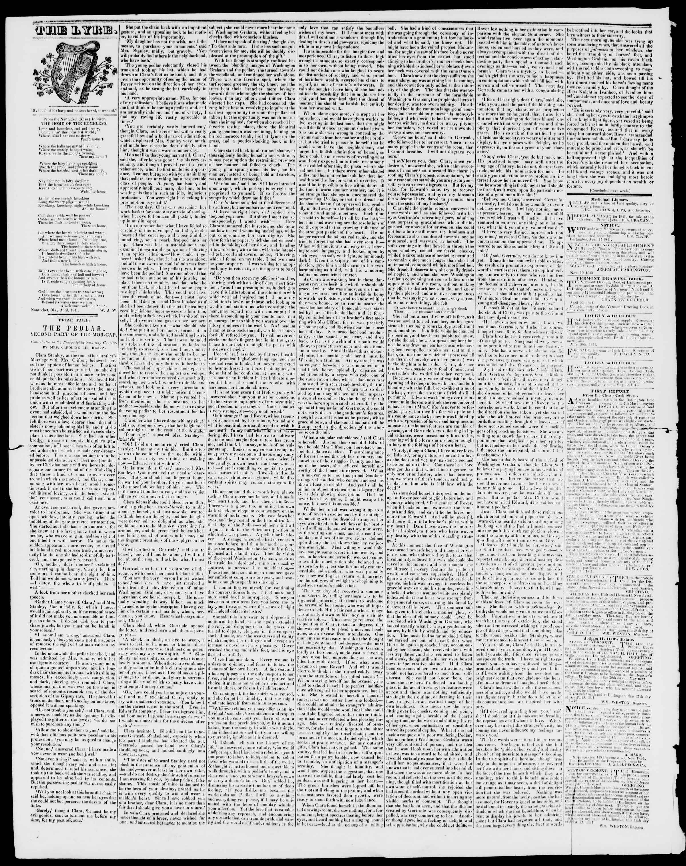 Newspaper of Burlington Free Press dated May 28, 1841 Page 4