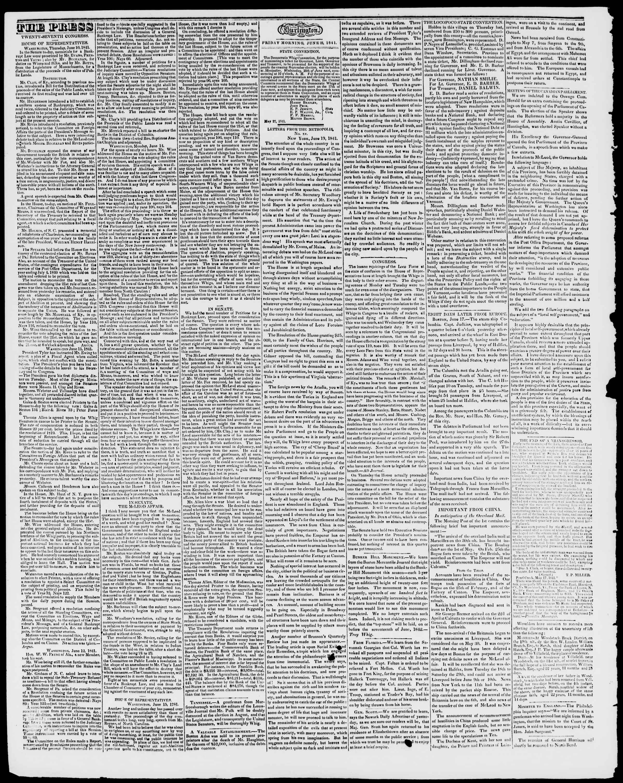 Newspaper of Burlington Free Press dated June 25, 1841 Page 2