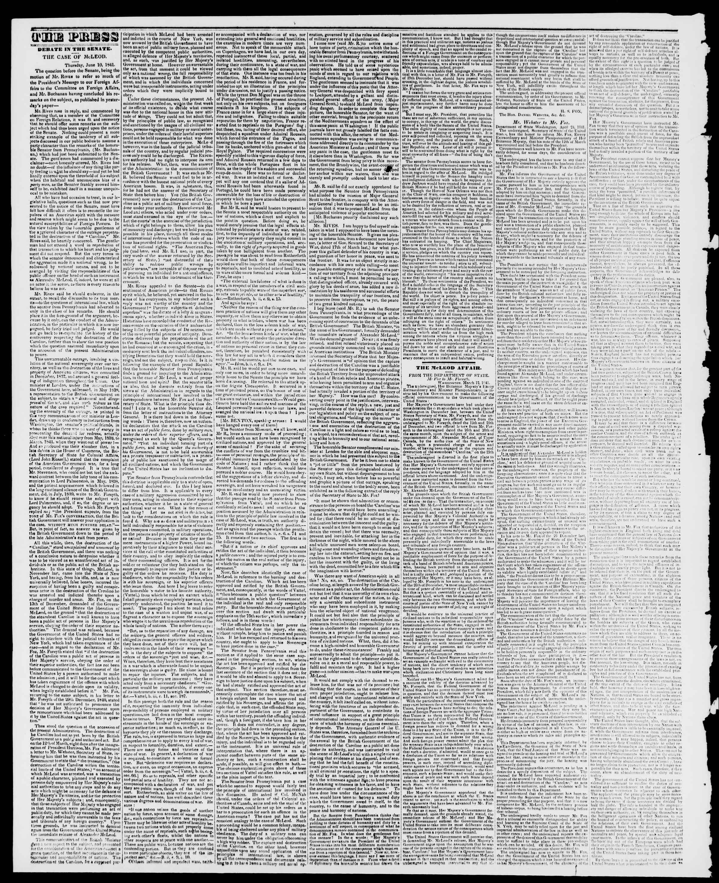 Newspaper of Burlington Free Press dated July 2, 1841 Page 2