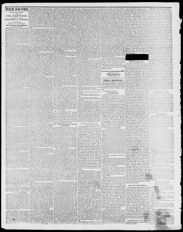 Newspaper of Burlington Free Press dated July 30, 1841 Page 2